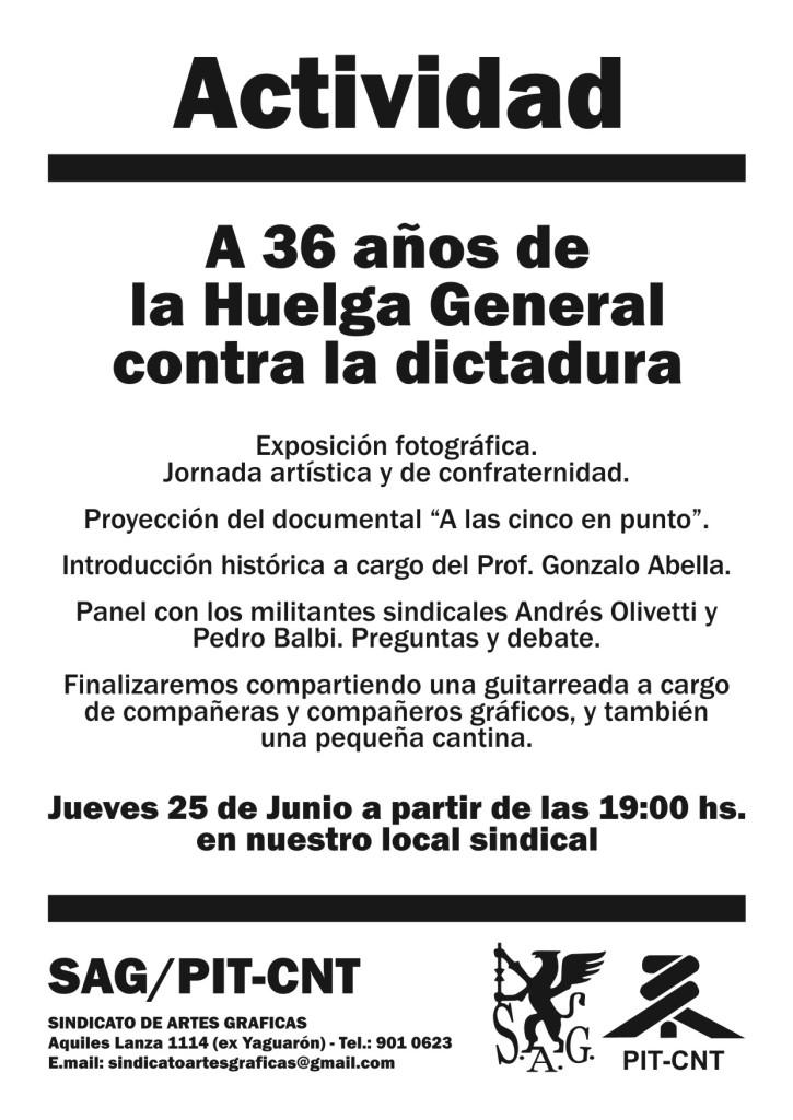 A 36 años de la Huelga General