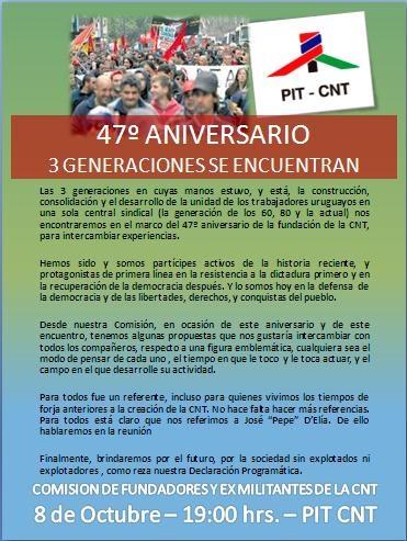 Invitación 47º Aniversario CNT