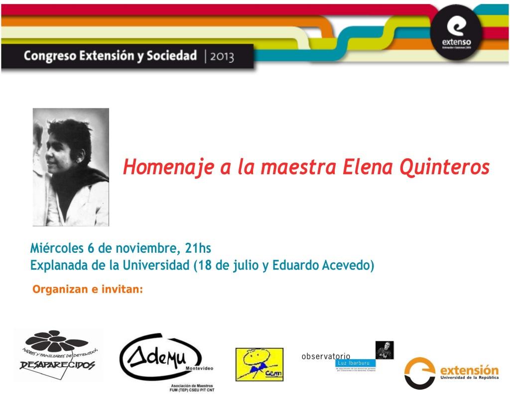 invitacion homenaje elena Quinteros
