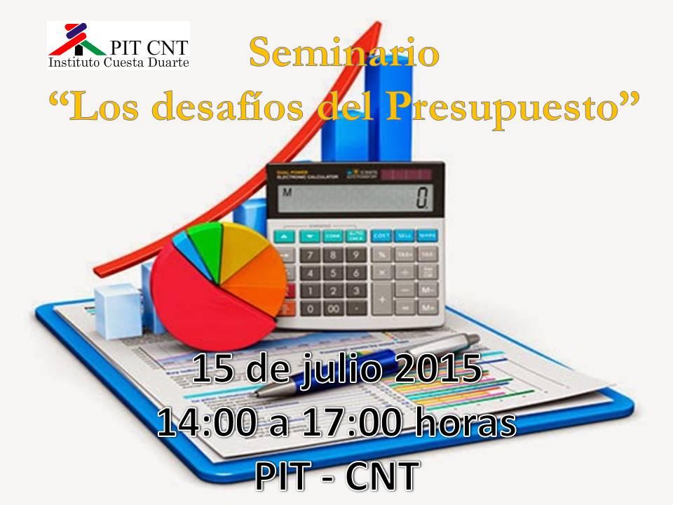 Afiche seminario presupuesto